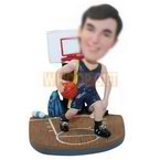 custom basketball player with basketball court figurines