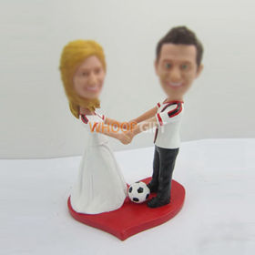 custom wedding cake bobble head