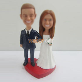 custom wedding cake bobblehead doll