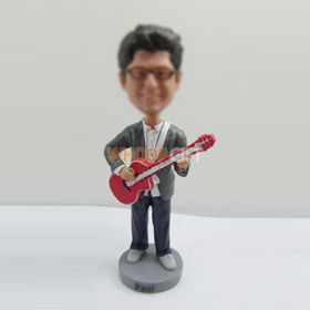 custom man with guitar bobbleheads