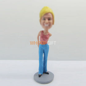 custom fashion female bobbleheads