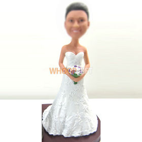 custom beautiful Bride bobbleheads