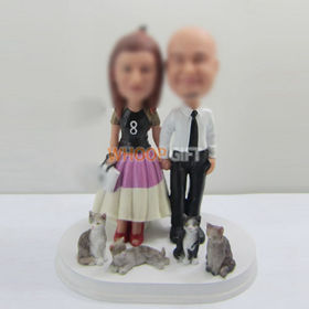 custom sweet lovers bobbleheads