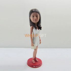 custom Fashionable girl bobbleheads