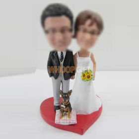 Professional Personalized custom wedding cake bobble head doll