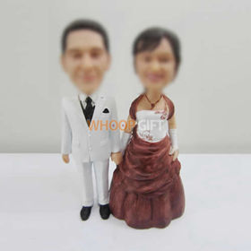 customized wedding cake bobbleheads