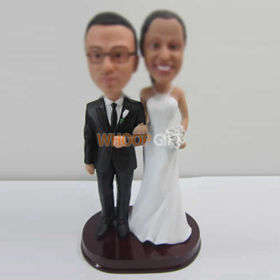 customized wedding cake bobble heads