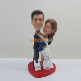 customized wedding cake bobble head