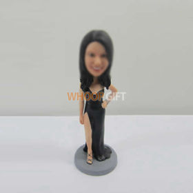 custom black dress bobbleheads
