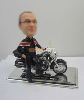custom male with Motorcycle bobble heads