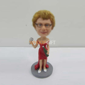 custom red dress bobbleheads