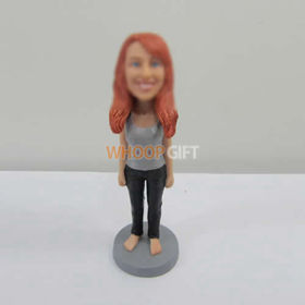 custom Barefoot girl bobbleheads