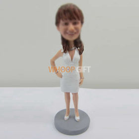 custom white dress bobbleheads