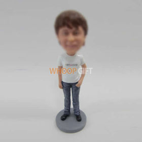 custom casual man bobble head doll