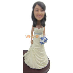 custom beautiful Bride bobble heads