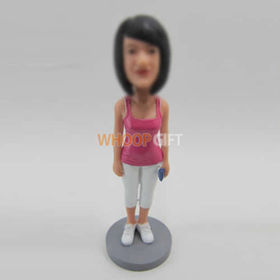 custom Morning exercise girl bobbleheads