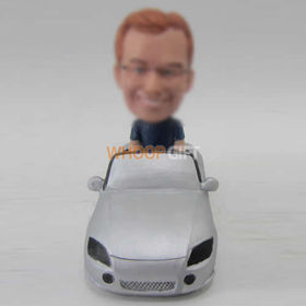 custom man in car bobbleheads