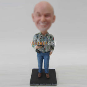 custom man with blue jeans bobbleheads