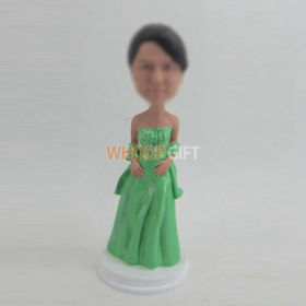 custom female with dress bobbleheads