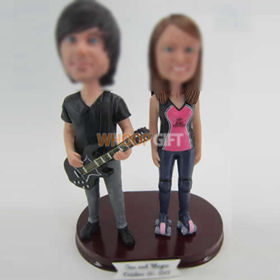 custom lovers bobble heads