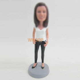custom Black high-heeled bobbleheads