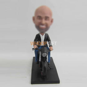 custom black moto bobbleheads