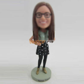 custom Wave point Skirt bobbleheads