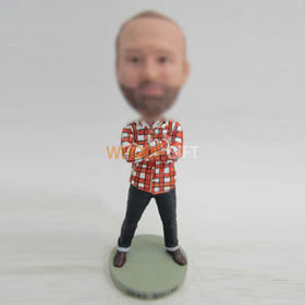 custom black pants bobblehead
