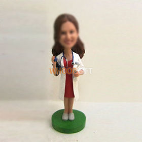 custom femal doctor bobbleheads