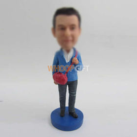 custom male with bag bobbleheads