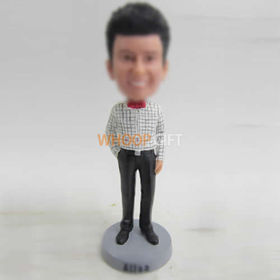 custom red Bow tie bobbleheads