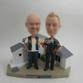 custom Good Neighbors bobbleheads