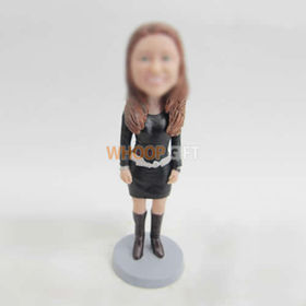 custom casual female bobble head dolls