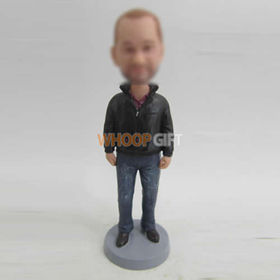 custom black coat bobble heads