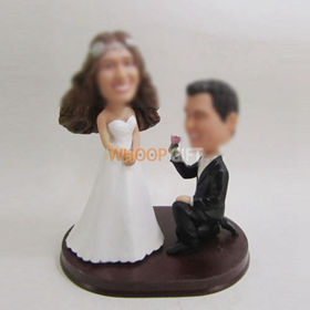 custom wedding cake bobblehead
