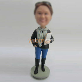 Personalized custom teacher bobble head