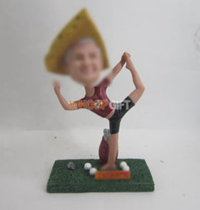 custom Yoga Golf bobbleheads
