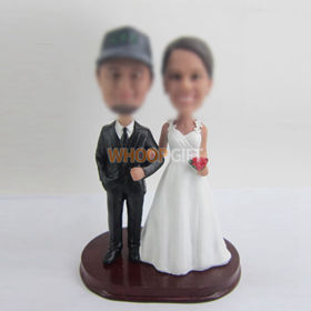 custom wedding cake bobblehead dolls