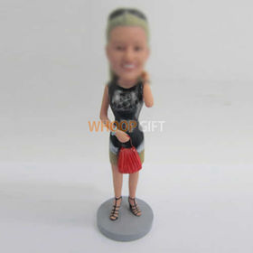 custom red bag bobbleheads