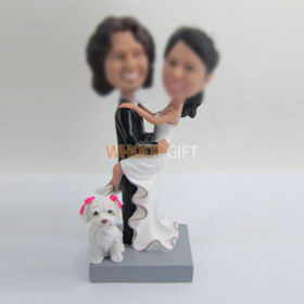 custom sweet wedding cake bobblehead