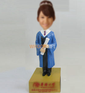 custom female Graduation bobble heads