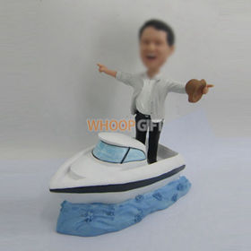 custom man and Yacht bobbleheads