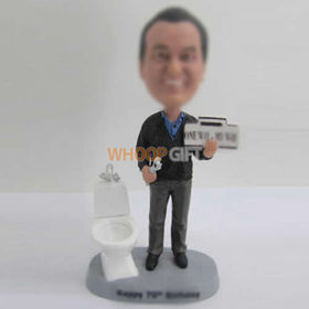 custom Repair toilet bobbleheads