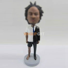 Personalized custom casual man bobblehead doll