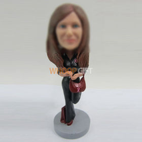 custom fashion girl bobbleheads