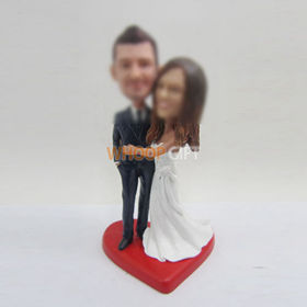 custom sweet wedding cake bobblehead doll
