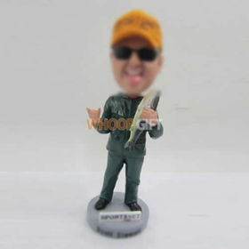 custom Dad Fishing bobble heads
