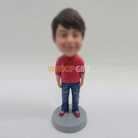 custom cute boy bobblehead