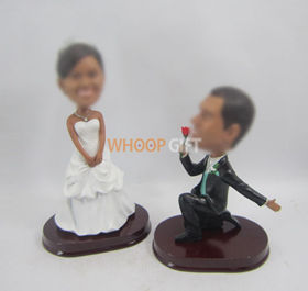 custom Propose marriage bobbleheads