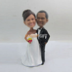 custom happiness wedding cake bobbleheads
